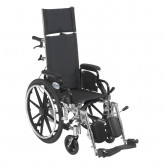 "Drive Medical Viper Plus Light Weight Reclining Wheelchair with Elevating Leg Rests and Flip Back Detachable Arms, 12"" Seat"