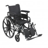 """Drive Medical Viper Plus GT Wheelchair with Flip Back Removable Adjustable Full Arms, Elevating Leg Rests, 16"""" Seat"""