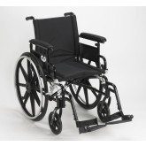 """Drive Medical Viper Plus GT Wheelchair with Flip Back Removable Adjustable Full Arms, Swing away Footrests, 16"""" Seat"""
