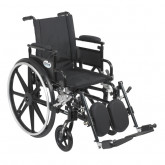 """Drive Medical Viper Plus GT Wheelchair with Flip Back Removable Adjustable Desk Arms, Elevating Leg Rests, 18"""" Seat"""