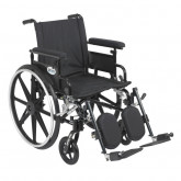 """Drive Medical Viper Plus GT Wheelchair with Flip Back Removable Adjustable Full Arms, Elevating Leg Rests, 18"""" Seat"""