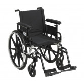"""Drive Medical Viper Plus GT Wheelchair with Flip Back Removable Adjustable Full Arms, Swing away Footrests, 18"""" Seat"""