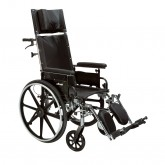 "Drive Medical Viper Plus GT Full Reclining Wheelchair, Detachable Full Arms, 18"" Seat"
