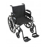 """Drive Medical Viper Plus GT Wheelchair with Flip Back Removable Adjustable Desk Arms, Swing away Footrests, 20"""" Seat"""
