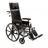 "Drive Medical Viper Plus GT Full Reclining Wheelchair, Detachable Desk Arms, 20"" Seat"