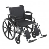 """Drive Medical Viper Plus GT Wheelchair with Flip Back Removable Adjustable Desk Arms, Elevating Leg Rests, 22"""" Seat"""