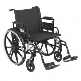 """Drive Medical Viper Plus GT Wheelchair with Flip Back Removable Adjustable Desk Arms, Swing away Footrests, 22"""" Seat"""