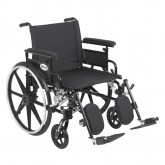 """Drive Medical Viper Plus GT Wheelchair with Flip Back Removable Adjustable Full Arms, Elevating Leg Rests, 22"""" Seat"""
