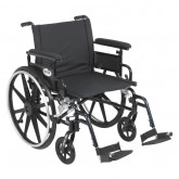 """Drive Medical Viper Plus GT Wheelchair with Flip Back Removable Adjustable Full Arms, Swing away Footrests, 22"""" Seat"""
