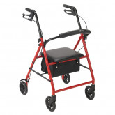 "Drive Medical Rollator Rolling Walker with 6"" Wheels, Red"