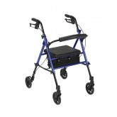 """Drive Medical Adjustable Height Rollator Rolling Walker with 6"""" Wheels, Blue"""