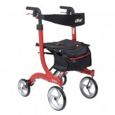 Drive Medical Nitro Aluminum Rollator  Red Tall Height w/10  Casters