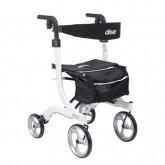 Drive Medical Nitro Aluminum Rollator  White Tall Height w/10  Casters