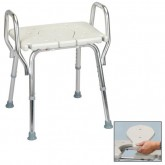 Eagle Health Supplies Inc Shower Chair with Arms and Replaceable Cut Out Seat