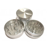 """Sharpstone Classic (1.5"""" Inch) Hard Top Herb and Tobacco Grinder - 2 pc, Small, Silver"""