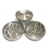 """Sharpstone Classic (2.2"""" Inch) Hard Top Herb and Tobacco Grinder - 2pc, Medium, Silver"""