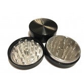 """Sharpstone Classic (2.5"""" Inch) Hard Top Herb and Tobacco Grinder - 2pc, Large, Black"""