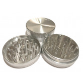"""Sharpstone Classic (2.5"""" Inch) Hard Top Herb and Tobacco Grinder - 2pc, Large, Silver"""