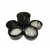 """Sharpstone Classic (1.5"""" Inch) Hard Top Herb and Spice Grinder - 4 pc, Small, Black"""