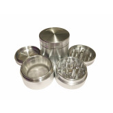 """Sharpstone Classic (1.5"""" Inch) Hard Top Herb and Spice Grinder - 4pc, Small, Silver"""
