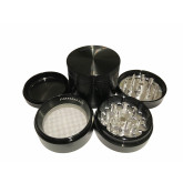 "Sharpstone Classic (2.2"" Inch) Hard Top Herb and Tobacco Grinder - 4pc, Medium, Black"