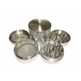 "Sharpstone Classic (2.2"" Inch) Hard Top Herb and Tobacco Grinder - 4pc, Medium, Silver"