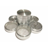 "Sharpstone Classic (2.2"" Inch) Hard Top Herb and Tobacco Grinder - 5pc, Medium, Silver"