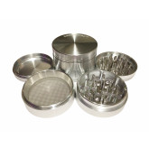 """Sharpstone Classic (2.5"""" Inch) Hard Top Herb and Spice Grinder - 4pc, Large, Silver"""