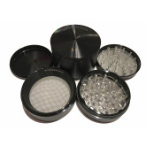 """Sharpstone Classic (3.0"""" Inch) Hard Top Herb and Spice Grinder - 4pc, X-Large, Black"""