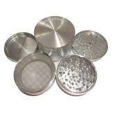 "Sharpstone Classic (3.0"" Inch) Hard Top Herb and Tobacco Grinder - 4pc, X-Large, Silver"