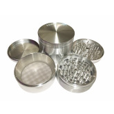 """Sharpstone Classic (3.5"""" Inch) Hard Top Herb and Spice Grinder - 4pc, XX-Large, Silver"""