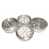 """Sharpstone Classic (2.2"""" Inch) Clear Top Push Up Herb and Spice Grinder - 2pc, Medium, Silver"""
