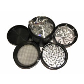 """Sharpstone Classic (3.0"""" Inch) Crank Top Herb and Spice Grinder - 4pc, X-Large, Black"""