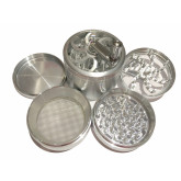 """Sharpstone Classic (3.0"""" Inch) Crank Top Herb and Spice Grinder - 4pc, X-Large, Silver"""