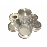 "Sharpstone Classic (2.2"" Inch) Hard Top Vibrating Herb and Tobacco Grinder - 4pc, Medium, Silver"