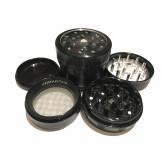 "Sharpstone Version 2.0 (2.2"" Inch) Clear Top Herb and Tobacco Grinder - 4pc, Medium, Black"