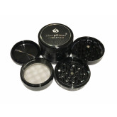 "Sharpstone Version 2.0 (2.5"" Inch) Hard Top Herb and Tobacco Grinder - 4pc, Large, Black"