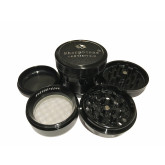 "Sharpstone Version 2.0 (2.2"" Inch) Hard Top Herb and Tobacco Grinder - 4pc, Medium, Black"