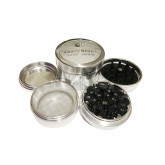 "Sharpstone Version 2.0 (2.2"" Inch) Hard Top Herb and Tobacco Grinder - 4pc, Medium, Silver"
