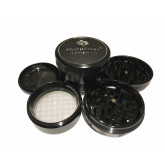 "Sharpstone Version 2.0 (3.0"" Inch) Hard Top Herb and Tobacco Grinder - 4pc, X-Large, Black"