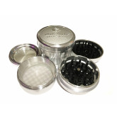 "Sharpstone Version 2.0 (3.0"" Inch) Hard Top Herb and Tobacco Grinder - 4pc, X-Large, Silver"