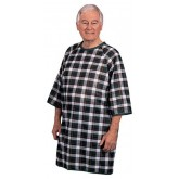 Salk Incorporated Thermagown Patient Gown Blue/Green Plaid