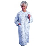 Salk Incorporated Flannelette Patient Gown Women Small-Medium  Pink/Blue Floral