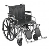 "Drive Medical Sentra Extra Heavy Duty Wheelchair, Detachable Desk Arms, Elevating Leg Rests, 20"" Seat"