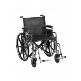 "Drive Medical Sentra Extra Heavy Duty Wheelchair, Detachable Desk Arms, Swing away Footrests, 20"" Seat"