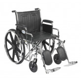 "Drive Medical Sentra EC Heavy Duty Wheelchair, Detachable Desk Arms, Elevating Leg Rests, 20"" Seat"