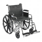 "Drive Medical Sentra EC Heavy Duty Wheelchair, Detachable Desk Arms, Swing away Footrests, 20"" Seat"