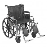 "Drive Medical Sentra Extra Heavy Duty Wheelchair, Detachable Desk Arms, Elevating Leg Rests, 22"" Seat"