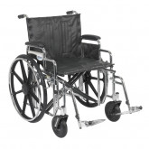 "Drive Medical Sentra Extra Heavy Duty Wheelchair, Detachable Desk Arms, Swing away Footrests, 22"" Seat"