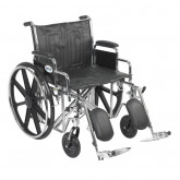 "Drive Medical Sentra EC Heavy Duty Wheelchair, Detachable Desk Arms, Elevating Leg Rests, 22"" Seat"